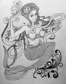 OctoMermaid-linework